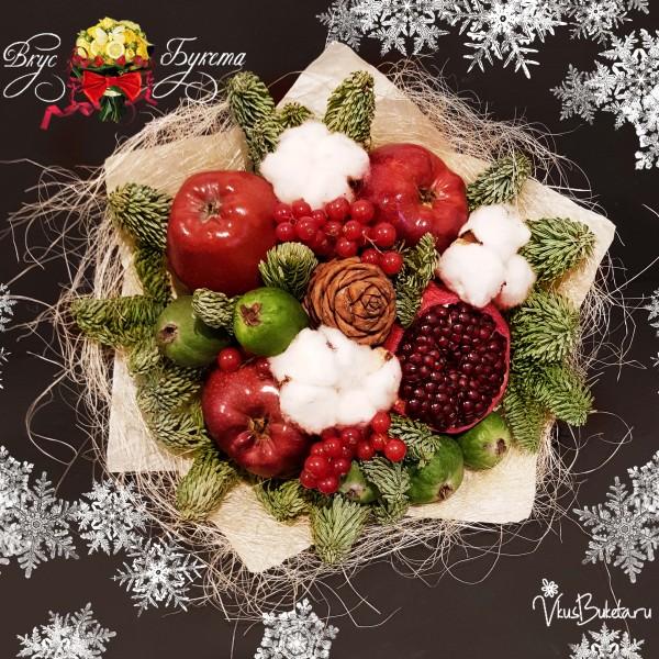 Букет на Новый Год из хвои и шишек Сказочная Зима