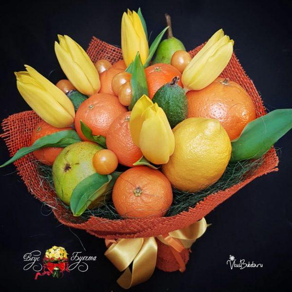 Маленькое счастье - тюльпаны и мандарины